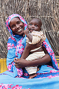 Habsita Moussa, 30, and her son Abdelnassir Haroun, 6 mo., at home in Mongo, Guera province, Chad on Wednesday October 17, 2012.