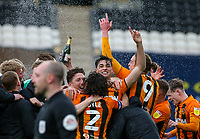 Hull City players celebrate after the match<br /> <br /> Photographer Alex Dodd/CameraSport<br /> <br /> The EFL Sky Bet League One - Hull City v Wigan Athletic - Saturday 1st May 2021 - KCOM Stadium - Kingston upon Hull<br /> <br /> World Copyright © 2021 CameraSport. All rights reserved. 43 Linden Ave. Countesthorpe. Leicester. England. LE8 5PG - Tel: +44 (0) 116 277 4147 - admin@camerasport.com - www.camerasport.com