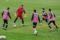 Spanish National Team's  training at Ciudad del Futbol stadium in Las Rozas, Madrid, Spain. In the pic: Koke, Sergio Asenjo, Cervajal and Juanfran. March 25, 2015. (ALTERPHOTOS/Luis Fernandez)