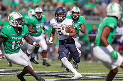 Oct 9, 2021; Huntington, West Virginia, USA; Old Dominion Monarchs running back Blake Watson (2) runs the ball during the second quarter against the Marshall Thundering Herd at Joan C. Edwards Stadium. Mandatory Credit: Ben Queen-USA TODAY Sports