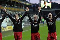 Fotball tippeligaen 12.04.08 Rosenborg ( RBK ) - Fredikstad,<br /> Hans Erik Ramberg og Fredrikstad etter kamp,<br /> Foto: Carl-Erik Eriksson, Digitalsport