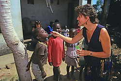 Candyce Bollinger Having Fun With Local Children