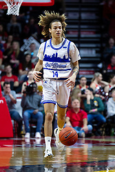 NORMAL, IL - February 22: Noah Thomas during a college basketball game between the ISU Redbirds and the Drake Bulldogs on February 22 2020 at Redbird Arena in Normal, IL. (Photo by Alan Look)