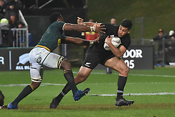 September 16, 2017 - Auckland, New Zealand - Rieko Loane of All Blacks breaks away tackle during the Rugby Championship test match between the New Zealand All Blacks and the South Africa Springboks at QBE stadium in Auckland on Sep 16, 2017. All Blacks beats Springboks 57-0. (Credit Image: © Shirley Kwok/Pacific Press via ZUMA Wire)