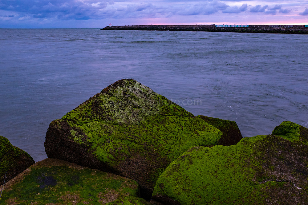 The River Adour meets the Atlantic, La Barre, Anglet Bayonne, France