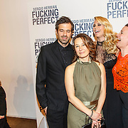 NLD/Amsterdam/20150309 - Premiere Fucking Perfect, filmmaker Willemiek Kluijfhout, Ellemieke Vermolen, partner Sergio Herman en producent Reinette van de Stadt (R)