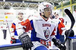 SELAN MAKS of Slovenia after the Friendly Ice-hockey match between National teams of Slovenia and Kazakhstan on April 9, 2013 in Ice Arena Tabor, Maribor, Slovenia. Kazakhstan defeated Slovenia 2-1. (Photo By Vid Ponikvar / Sportida)