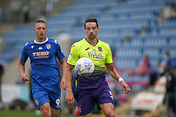 Aaron Martin of Exeter City defends the ball under pressure - Mandatory by-line: Arron Gent/JMP - 18/06/2020 - FOOTBALL - JobServe Community Stadium - Colchester, England - Colchester United v Exeter City - Sky Bet League Two Play-off 1st Leg