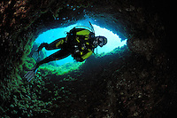 Cave diving Comino Island, Gozo, Maltese Islands