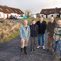 Residents of Abbey West, Bellharbour LtoR: Johnny White, Dualta & Jim McKee, Seán Tyrrell (neighbour) and Brian Flemming