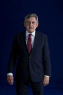 Former British Prime Minister Gordon Brown, arriving at the Edinburgh International Book Festival where he delivered the NLS Donald Dewar Lecture in the event's main theatre. The three-week event is the world's biggest literary festival and is held during the annual Edinburgh Festival. The 2012 event featured talks and presentations by more than 500 authors from around the world.