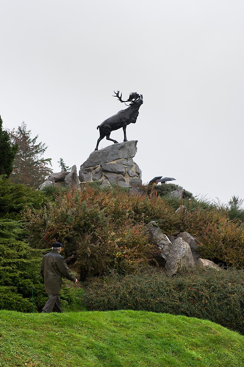 The Caribou Memorial, the emblem of the Royal Newfoundland Regiment, standing atop a mound of Newfoundland graniteand surrounded by native Newfoundland plants. Beaumont-Hamel Newfoundland Memorial is dedicated to the commemoration of the Newfoundland Regiment that fought in the battle of Somme and WWI in general. Most of the  Newfoundland Regiment were dead within 15 to 20 minutes of leaving their trench in the morning of the 1st July 1916 during the first day of the Battle of the Somme.