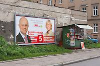 Political poster for Social Democrat Party seen in Krakow Poland