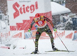 31.01.2016, Casino Arena, Seefeld, AUT, FIS Weltcup Nordische Kombination, Seefeld Triple, Langlauf, im Bild Eric Frenzel (GER, 1.Platz) // 1st placed Eric Frenzel of Germany reacts after 15km Cross Country Gundersen Race of the FIS Nordic Combined World Cup Seefeld Triple at the Casino Arena in Seefeld, Austria on 2016/01/31. EXPA Pictures © 2016, PhotoCredit: EXPA/ Jakob Gruber