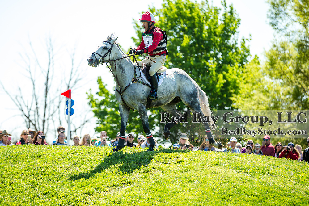 Joe Meyer (NZL) and Johnny Royale during the cross-country at the 2019 Land Rover Kentucky Three-Day Event presented by MARS EQUESTRIAN in Lexington, Kentucky