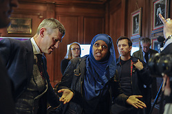 April 28, 2017 - London, UK - London, UK. Stand Up To Racism activists protest ahead of UK Independence Party Leader Paul Nuttall launching the national election campaign of the UK Independence Party at Marriott County Hall in central London. (Credit Image: © Stephen Chung/London News Pictures via ZUMA Wire)