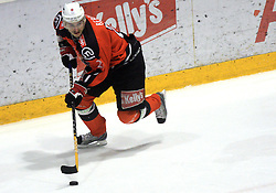 Miha Rebolj (27) at ice hockey match Acroni Jesencie vs EC Pasut VSV. in EBEL League,  on November 23, 2008 in Arena Podmezaklja, Jesenice, Slovenia. (Photo by Vid Ponikvar / Sportida)