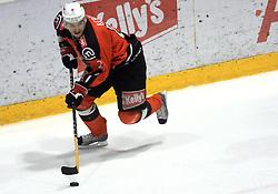 Miha Rebolj (27) at ice hockey match Acroni Jesencie vs EC Pasut VSV. in EBEL League,  on November 23, 2008 in Arena Podmezaklja, Jesenice, Slovenia. (Photo by Vid Ponikvar / Sportida)