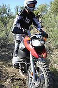 Bill Dragoo of Norman, OK riding his BMW GS during pit competition at 2010 Rawhyde Adventure Rider Challenge