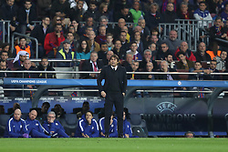 March 14, 2018 - Barcelona, Spain - Head coach ANTONIO CONTE of Chelsea FC during the UEFA Champions League, round of 16, 2nd leg football match between FC Barcelona and Chelsea FC on March 14, 2018 at Camp Nou stadium in Barcelona, Spain (Credit Image: © Manuel Blondeau via ZUMA Wire)