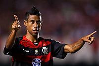 20100224: RIO DE JANEIRO, BRAZIL - Flamengo vs CD Universidad Catolica: Copa Libertadores 2010. In picture: Leonardo Moura (Flamengo) celebrating goal. PHOTO: CITYFILES