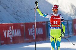 Jakov Fak (SLO) at finish line during Men 12,5 km Pursuit at day 3 of IBU Biathlon World Cup 2015/16 Pokljuka, on December 19, 2015 in Rudno polje, Pokljuka, Slovenia. Photo by Vid Ponikvar / Sportida