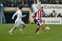 Atletico de Madrid's Fernando Torres and Real Madrid's Isco during 2014-15 Spanish King Cup match at Vicente Calderon stadium in Madrid, Spain. January 07, 2015. (ALTERPHOTOS/Luis Fernandez)