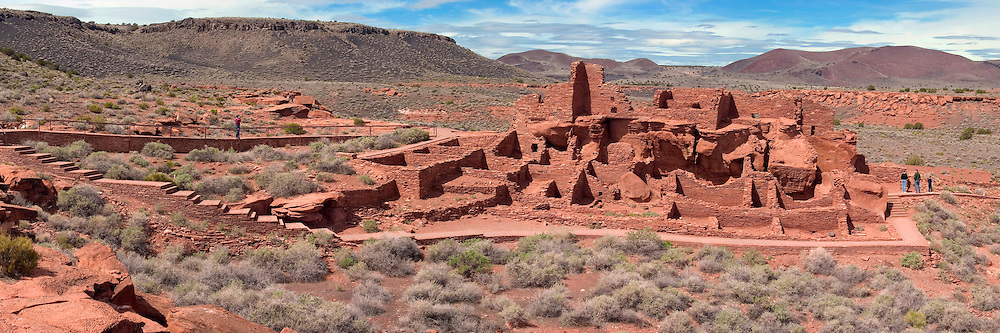 The red sandstone ruins of Wupatki Pueblo speak to the rich history of the cultures that once populated this desert landscape in Arizona.