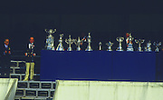 Henley, UNITED KINGDOM. Right, HRR Regatta Chairman, Peter CONI. with left  IOC President Juan Antonio  SAMARANCH, 1988 Henley Royal Regatta, Henley Reach. [Mandatory Credit Peter Spurrier/Intersport Images] 1988 Henley Royal Regatta. UK