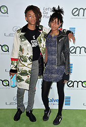 Jaden Smith and Willow Smith attend the 26th Annual EMA Awards at Warner Bros. Studios on October 22, 2016 in Burbank, Los Angeles, CA, USA. Photo by Lionel Hahn/ABACAPRESS.COM