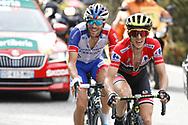 Simon Yates (GBR - Mitchelton - Scott) - Thibaut Pinot (FRA - Groupama - FDJ) during the 73th Edition of the 2018 Tour of Spain, Vuelta Espana 2018, 19th stage Lleida - Andorra 154,4 km on September 14, 2018 in Spain - Photo Luca Bettini / BettiniPhoto / ProSportsImages / DPPI