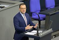 DEU, Deutschland, Germany, Berlin, 01.10.2020: Bundesgesundheitsminister Jens Spahn (CDU) bei seiner Rede während der Haushaltsdebatte im Plenarsaal des Deutschen Bundestags.
