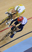 2012 Olympic Velodrome. London,Great Britain,..Description:  Women's Sprint Final AUS Anna MEARES and GBR Victoria PENDLETON at the Olympic Velodrome..2012 London Olympic Track Cycling. Velodrome, Stratford East London. UK.. ..16:23:48  Tuesday  07/08/2012 [Mandatory Credit: Peter Spurrier/Intersport Images]  .