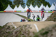 #1 (POST Alise) USA at Round 4 of the 2018 UCI BMX Superscross World Cup in Papendal, The Netherlands