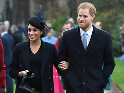 The Duchess of Sussex and the Duke of Sussex arriving to attend the Christmas Day morning church service at St Mary Magdalene Church in Sandringham, Norfolk.