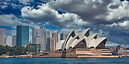 A view of the Sydney Opera House and Sydney skyline.