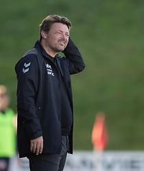 Cheftræner Michael Hansen (FC Fredericia) under kampen i 1. Division mellem FC Fredericia og FC Helsingør den 4. oktober 2020 på Monjasa Park i Fredericia (Foto: Claus Birch).