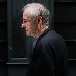 Jean Rolin, author and journalist, posing in the rue des Arquebusiers. Paris, France. July 1st, 2020.<br /> Jean Rolin, ecrivain et journaliste, prenant la pose dans la rue des Arquebusiers. Paris, France. 1er juillet 2020.