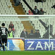 IBBSpor's Tefik Kose (L) goal during their Turkish superleague soccer match Besiktas between IBBSpor at BJK Inonu Stadium in Istanbul Turkey on Sunday, 11 December 2011. Photo by TURKPIX