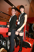 LOUIS BHOSE AND DAISY LOWE, Uniqlo - Japanese store launch party, 311 Oxford Street, London, W1. 6 November 2007. -DO NOT ARCHIVE-© Copyright Photograph by Dafydd Jones. 248 Clapham Rd. London SW9 0PZ. Tel 0207 820 0771. www.dafjones.com.