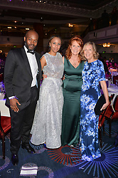 SIR OG & LADY AMAZU, SARAH, DUCHESS OF YORK and JULIET HERD at The Butterfly Ball in aid of Caudwell Children held at the Grosvenor House, Park Lane, London on 25th June 2015
