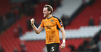 Football - 2016 / 2017 FA Cup - Fourth Round: Liverpool vs. Wolverhampton Wanderers<br /> <br /> Richard Stearman of Wolverhampton Wanderers celebrates after the match at Anfield.<br /> <br /> COLORSPORT/LYNNE CAMERON