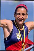 Munich; GERMANY;  ESP LW4X  Esperanza MARQUEZ ESCUDERO 1998 FISA World Cup; Munich Olympic Rowing Course; 29-31 May 1998.; Mandatory Credit, Peter Spurrier/Intersport-images 1998 FISA World Cup, Munich, GERMANY