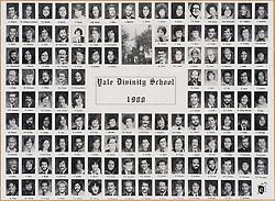 1980 Yale Divinity School Senior Portrait Class Group Photograph