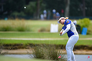 Ariya Jutanugarn (THA) chips up on to 1 during round 2 of the 2019 US Women's Open, Charleston Country Club, Charleston, South Carolina,  USA. 5/31/2019.<br /> Picture: Golffile | Ken Murray<br /> <br /> All photo usage must carry mandatory copyright credit (© Golffile | Ken Murray)