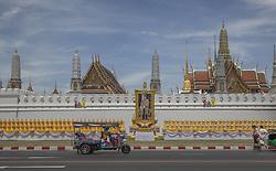 Last Preparation before the coronation ceremony at Royal Palace in Bangkok, Thailand, on May 04, 2019. Bangkok is preparing for the event, Royal Palace District, Coronation of the King of Thailand, Rama X, His Majesty King Maha Vajiralongkorn Bodindradebayavarangkun, Bangkok, Thailand. Photo by Loic Baratoux /ABACAPRESS.COM