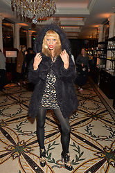 JOY VIELI at a dinner hosted by Amy Molyneaux and Percy Parker of fashion label PPQ to celebrate the PPQ AW 2015 collection 'Persephone' held at Braserie Chavot, 41 Conduit Street, London on 22nd February 2015.