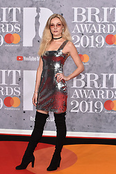 February 20, 2019 - London, United Kingdom of Great Britain and Northern Ireland - Clara Paget arriving at The BRIT Awards 2019 at The O2 Arena on February 20, 2019 in London, England  (Credit Image: © Famous/Ace Pictures via ZUMA Press)