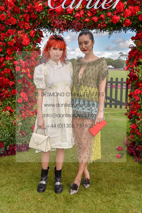 DJ Henri and Betty Bachz at the Cartier Queen's Cup Polo 2019 held at Guards Polo Club, Windsor, Berkshire. UK 16 June 2019. <br /> <br /> Photo by Dominic O'Neill/Desmond O'Neill Features Ltd.  +44(0)7092 235465  www.donfeatures.com