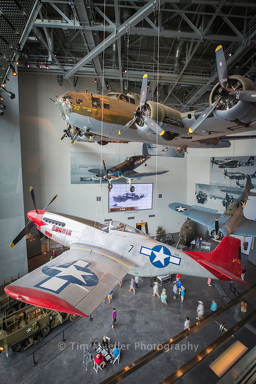 The National World War II Museum's newest exhibit, the U.S. Freedom Pavilion: The Boeing Center.